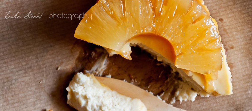 Cheesecake con caramelo de Arce y piña