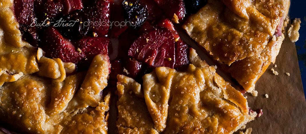 Galette de fresas y cerezas