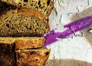 Pan de albahaca y limón confitado
