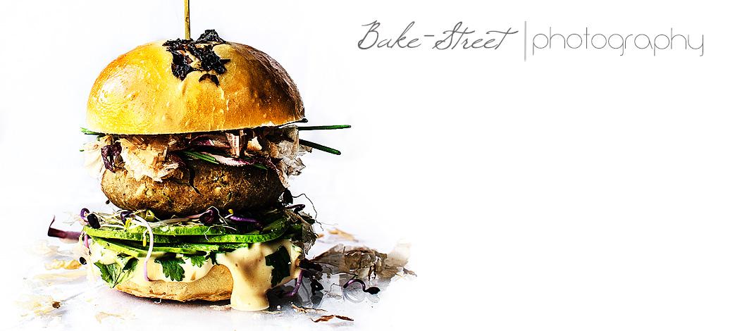 Chestnut and shiitake burger with sesame mayo