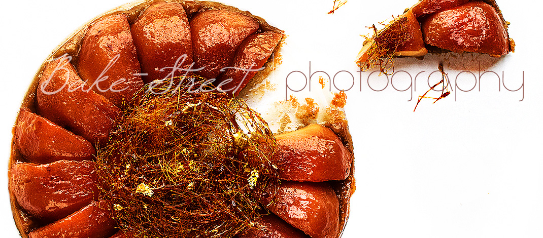 Tarte tatin de membrillo con nido de caramelo