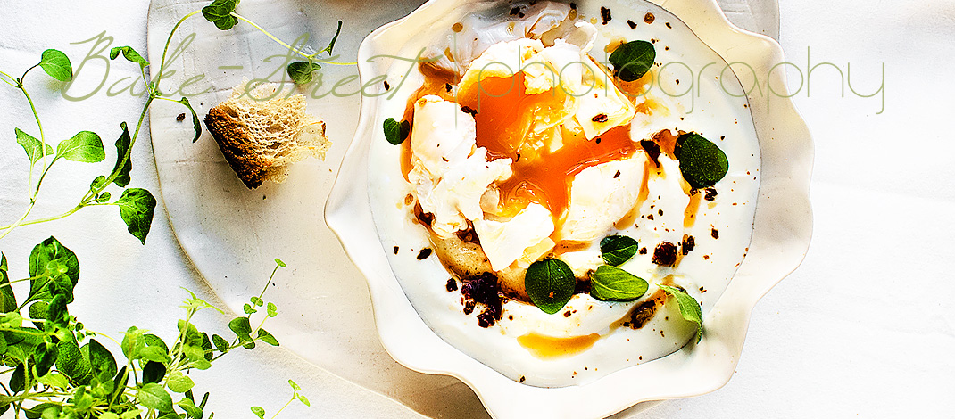 Yoghurt soup with poached egg