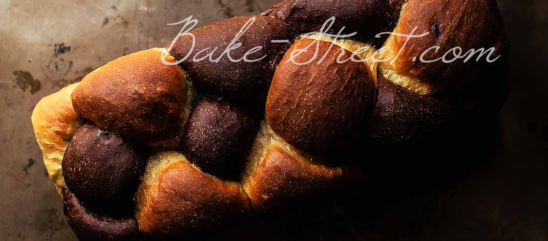 Braided bread, cocoa and cherry {Video recipe}