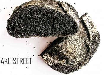 Pan de masa madre con carbón vegetal activado