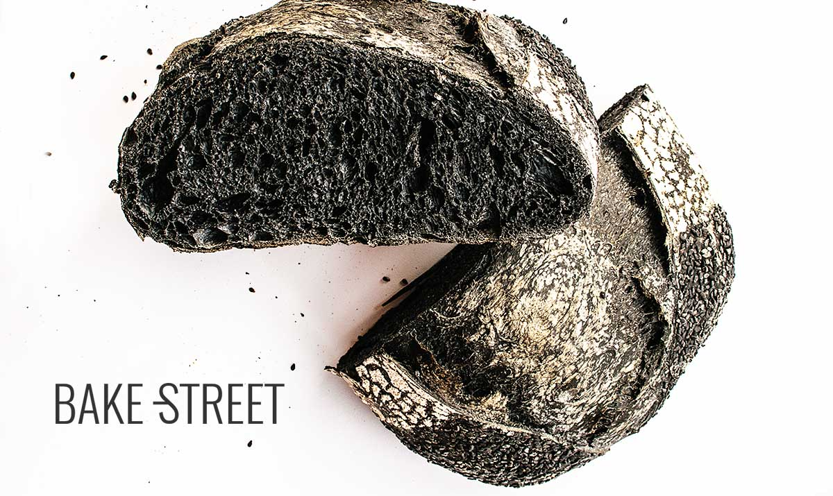 Sourdough charcoal bread