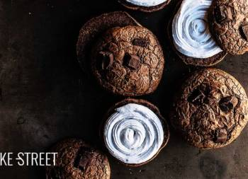 Mexican Hot Chocolate cookies with coconut cream