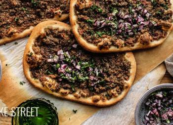 Lahmacun, flatbread stuffed