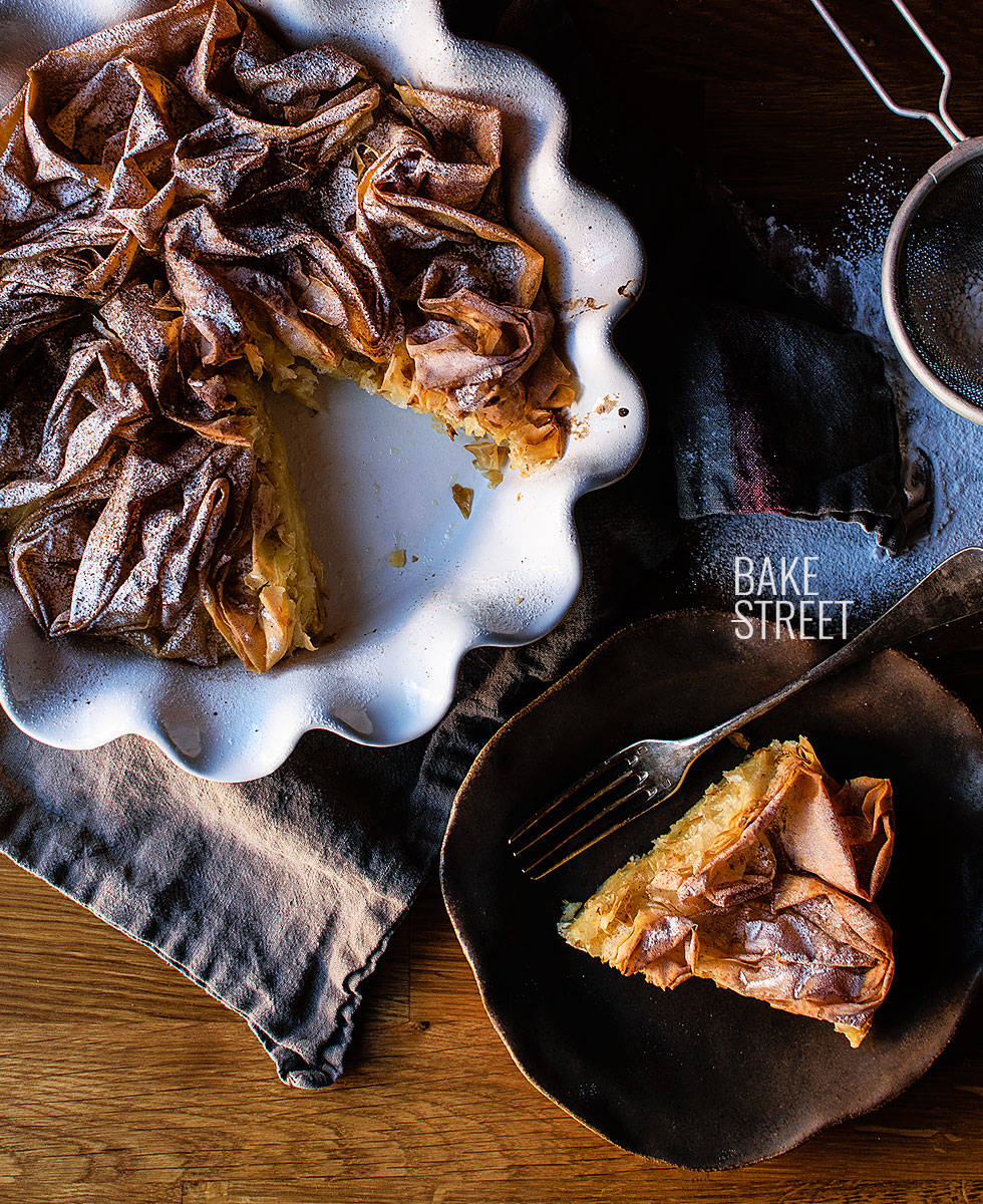 Galatopita {Ruffled Milk Pie}