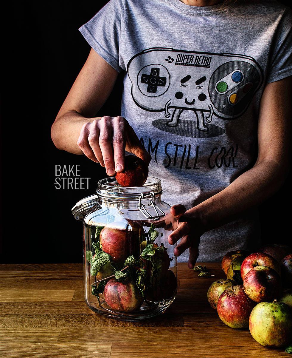 Manzanas rusas fermentadas