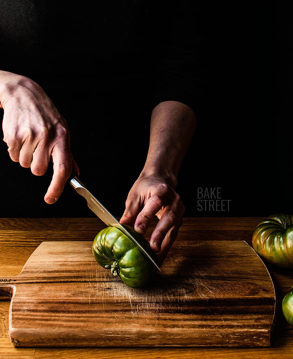 Tomates verdes fermentados estilo georgiano
