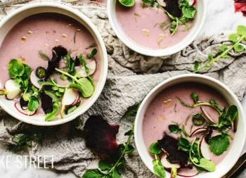 Radish Dashi cream with watercress