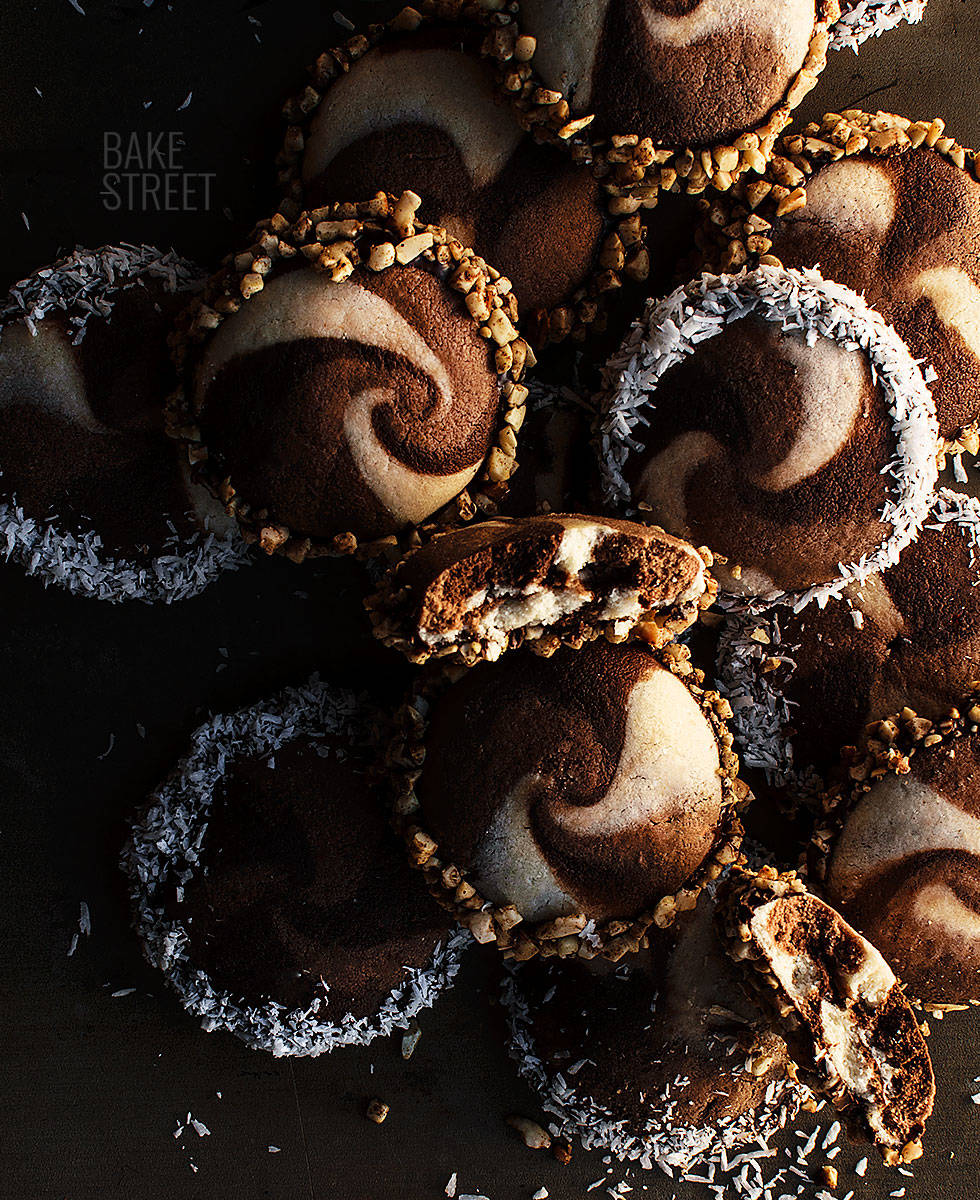 Galletas espiral de chocolate