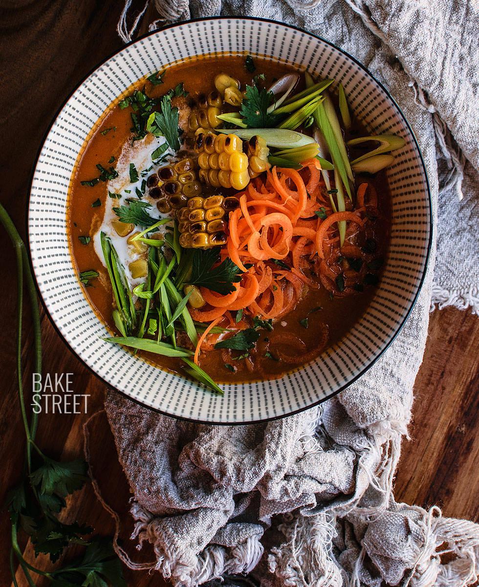 Sopa Zanzibar de zanahoria y tomate