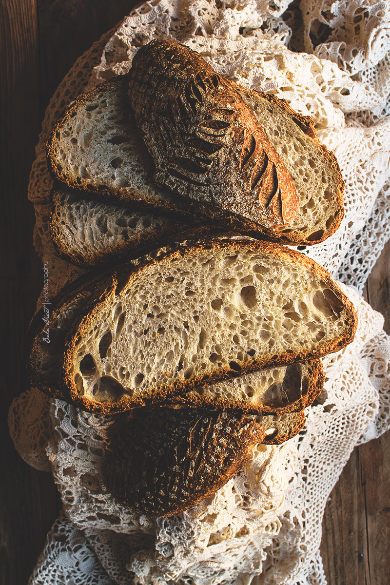 Pan de coco con masa madre