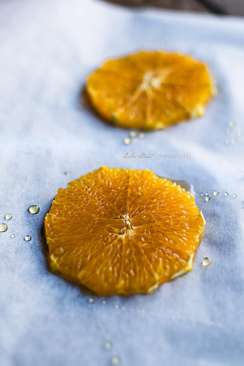 Tarta de queso con toffee y naranja asada