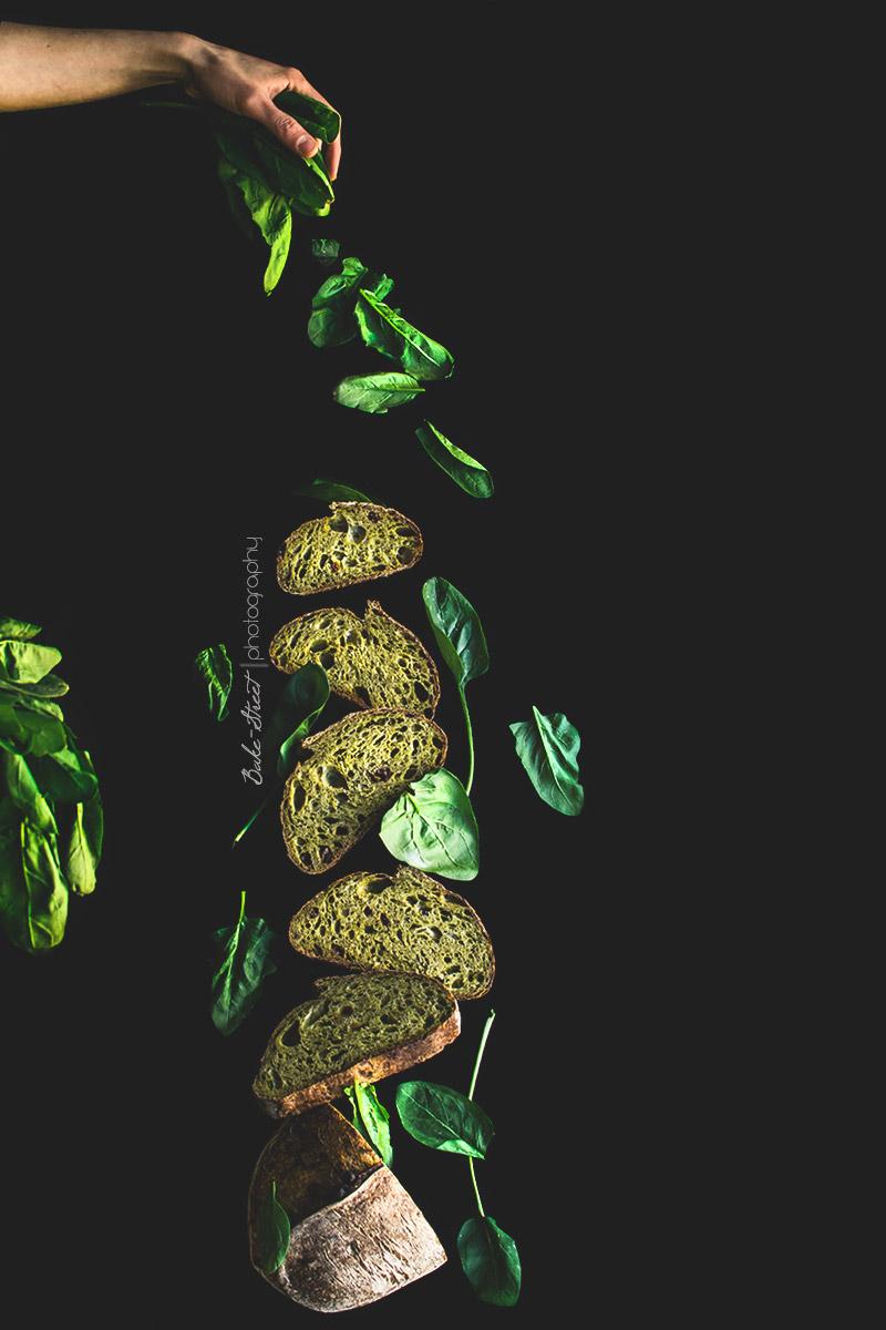 Pan de espinacas